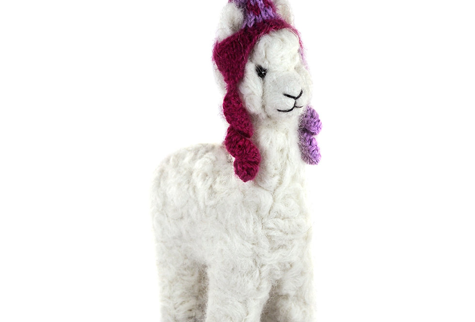 Mama 6.5″ Alpaca Fiber Sculpture - Pearl
