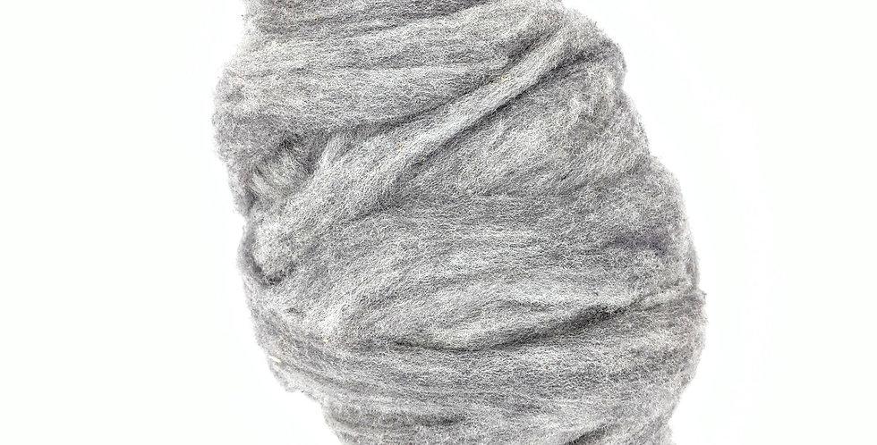 Roving - 100% Wool - 3.5 oz. Silver