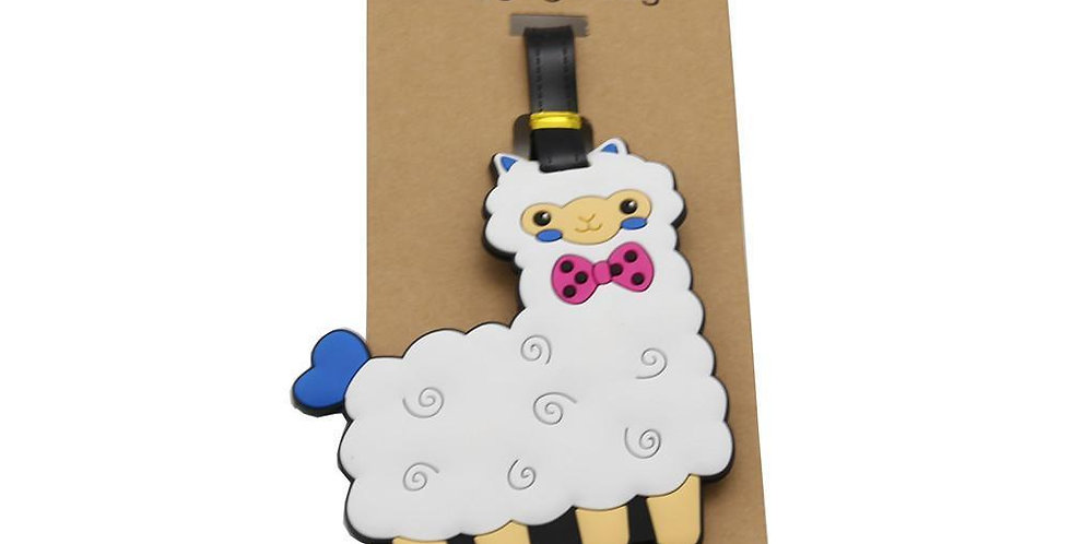 Alpaca My Bags Luggage Suitcase Tags - White with Pink