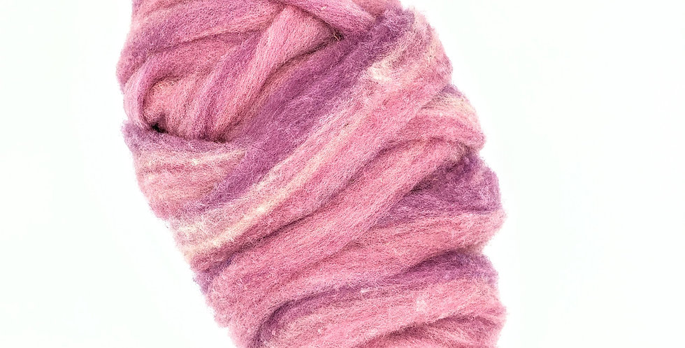 Roving - 100% Wool - 3.5 oz. Lavendar