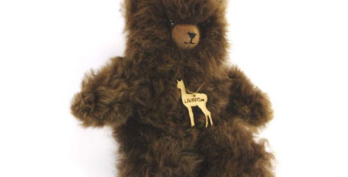 """Petite Alpaca Heirloom Teddy Bear 8"""" - Brown"""