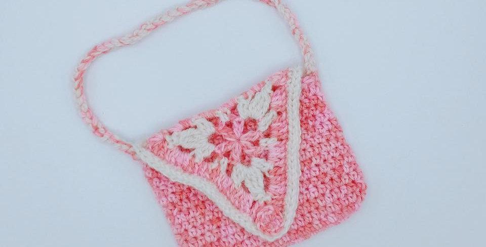 Handmade girl's flower purse