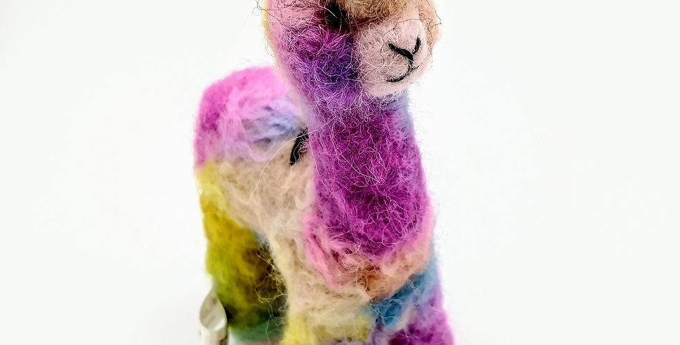 Cria Huacaya: 5.5″ Alpaca Fiber Sculpture - Confetti