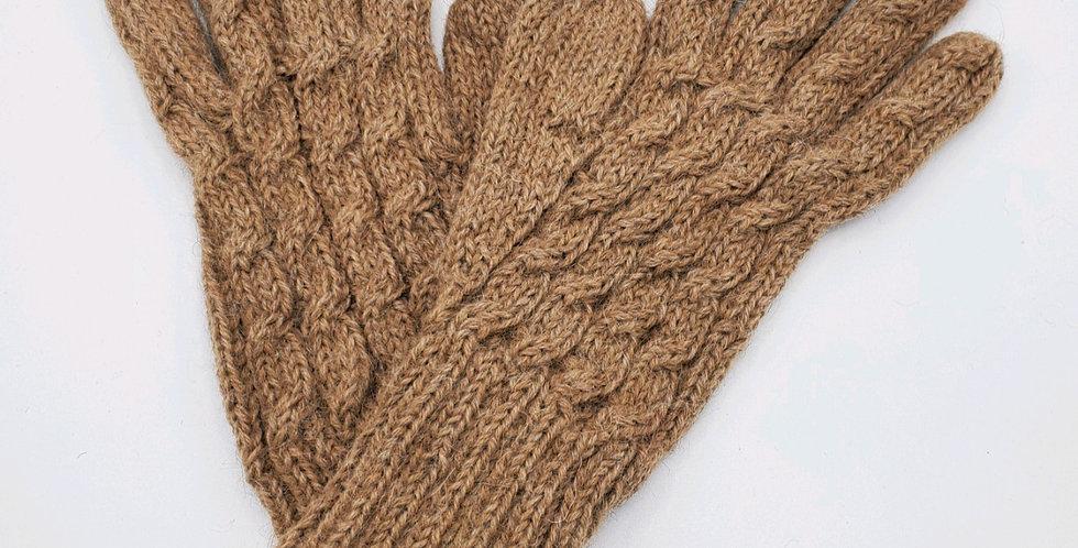 Trenza Cable Alpaca Gloves - Sand