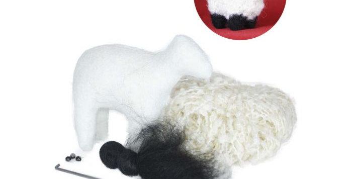 Needle Felting Kit: DIY Boucle Lamb - Pearl