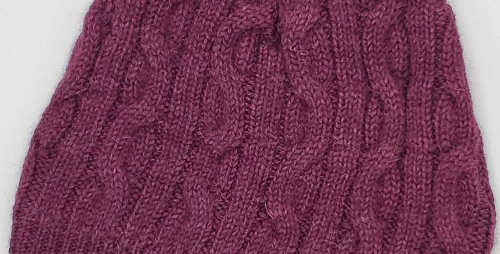 Bold Cable Beanie - Mulberry