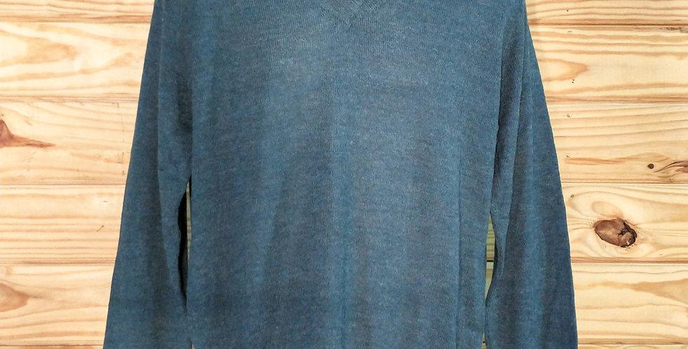 Men's V-Neck Alpaca Pullover
