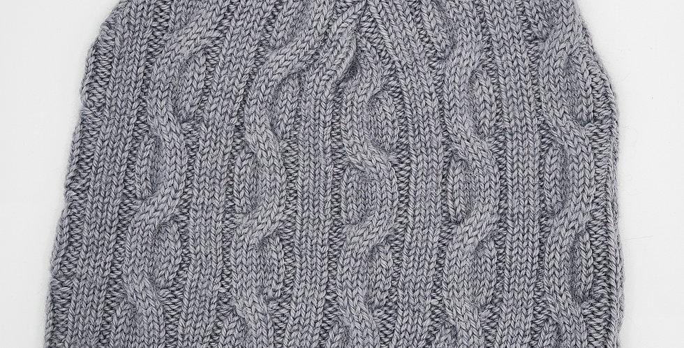 Bold Cable Beanie - Slate Grey