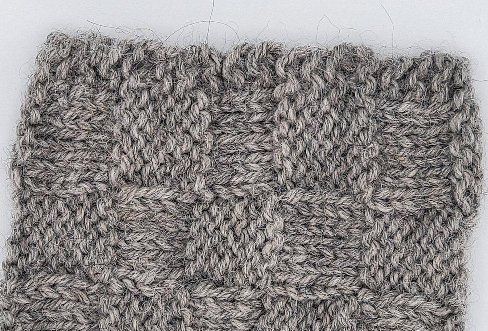 Handmade Cup Sleeve - grey basket weave