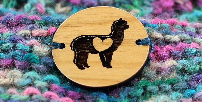 """LOVE Alpaca Button - Round - 1.25"""""""