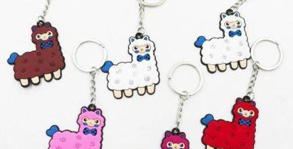 Alpaca Tag Key Chain - Fuschia