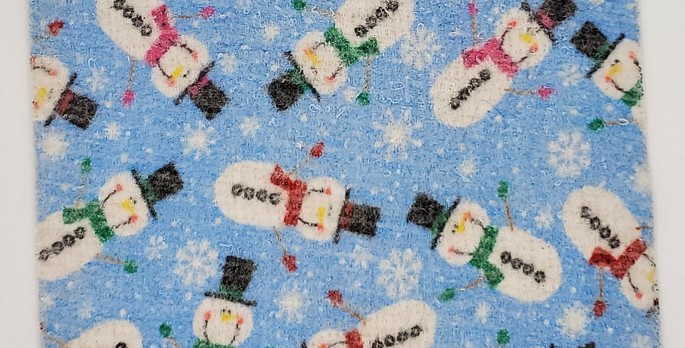 Holiday felted hot pad - Snowman