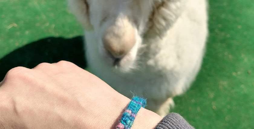 Handmade thick bracelet