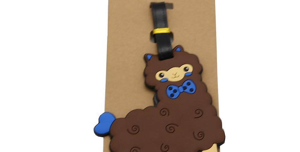 Alpaca My Bags Luggage Suitcase Tags - Chocolate
