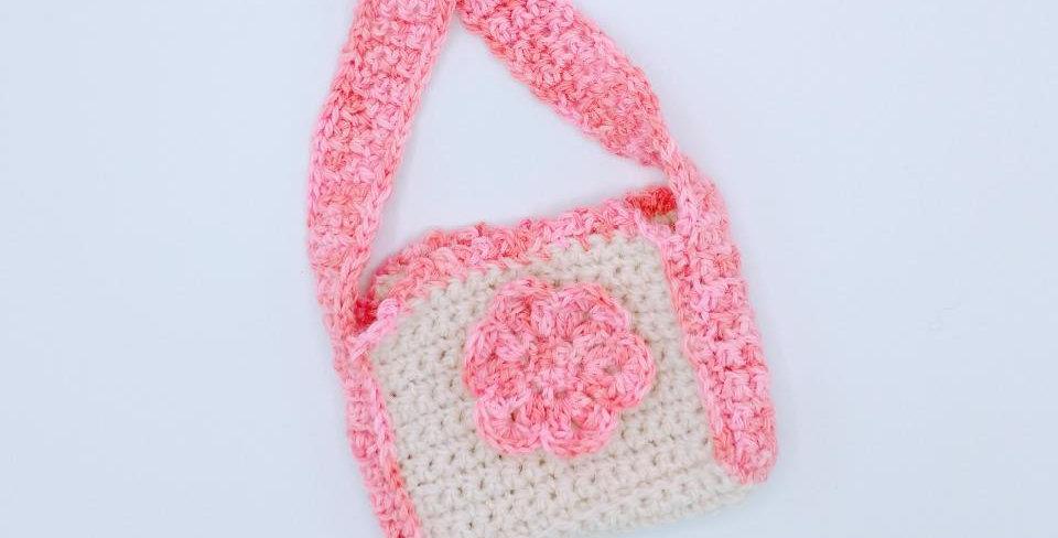 Handmade Pink Flower Purse
