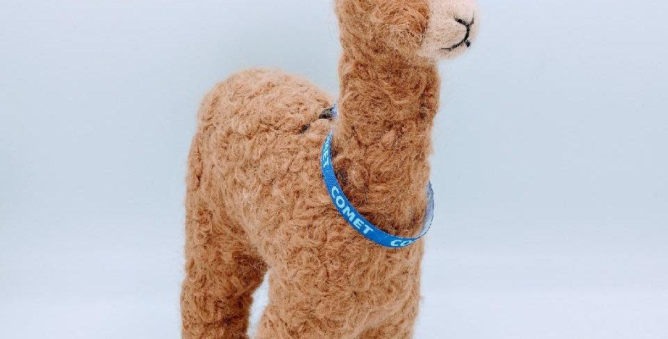 12″ Alpaca Fiber Sculpture with a Collar