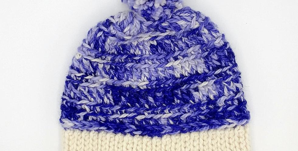 Handmade crocheted bonnet - purple delight