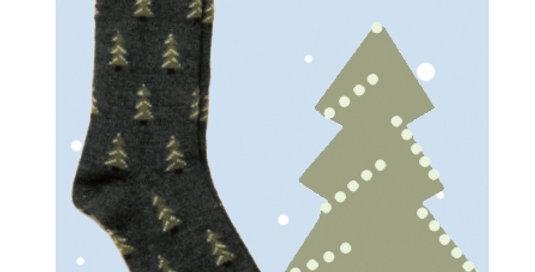 Pine Tree Socks