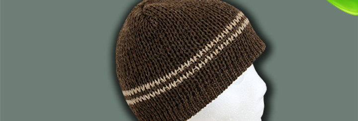 The Classic Alpaca Hat - Brown with Fawn Stripe