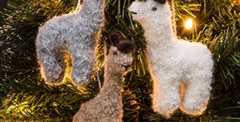 Fuzzy Alpaca Ornament