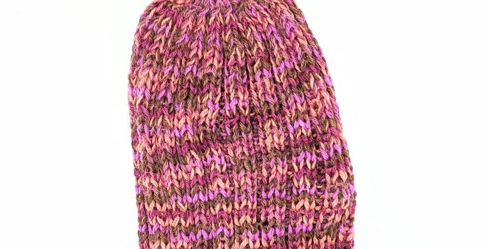 Chunky Palette Alpaca Hat - rose