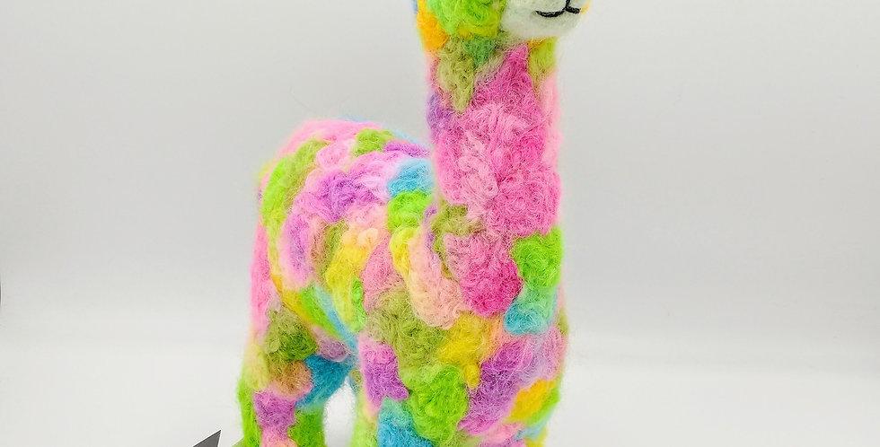 Herdsire 12″ Alpaca Fiber Sculpture - Confetti