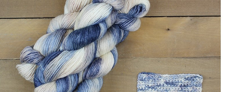 Bulky Weight Yarn - Blueberries and Creme