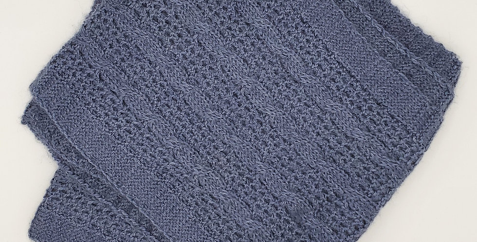 BOLD Cable and Lace Scarf - Denim