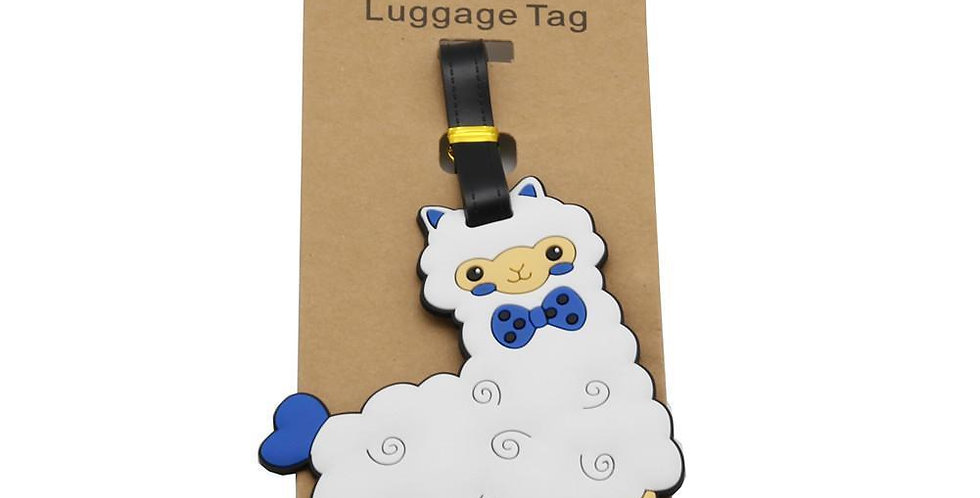 Alpaca My Bags Luggage Suitcase Tags - White with Blue