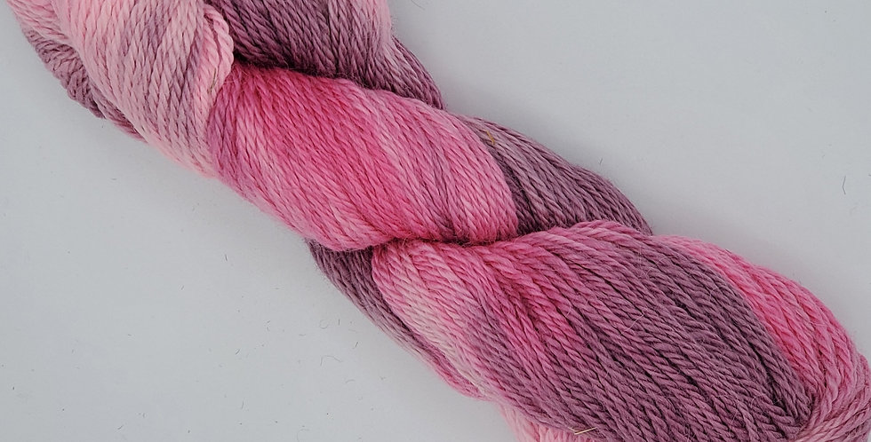 3 ply worsted weight 100% alpaca yarn - Dyed Plum