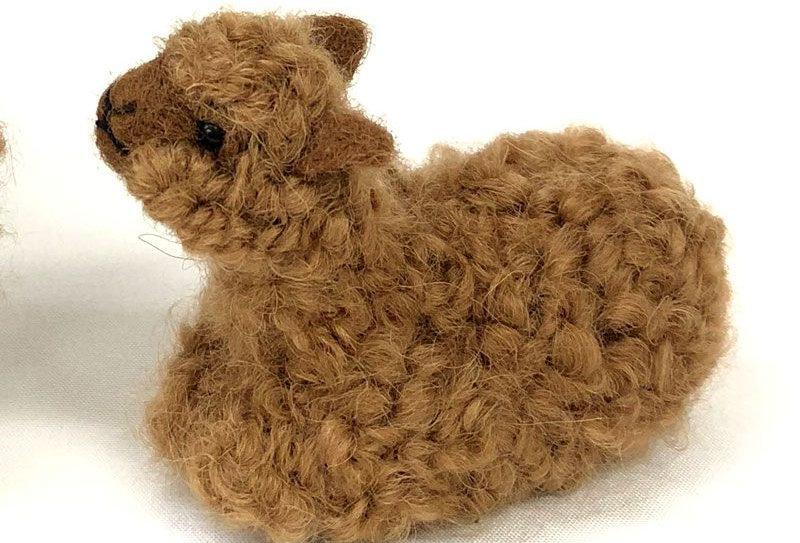 100% Baby Alpaca Figurine - Cria