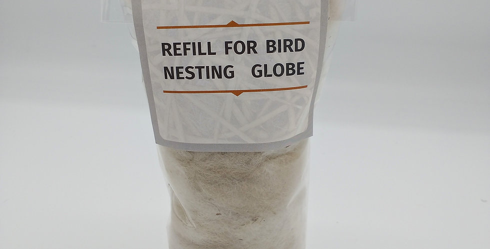 Refill for Alpaca Fiber Filled Bird Nesting Spheres and Star