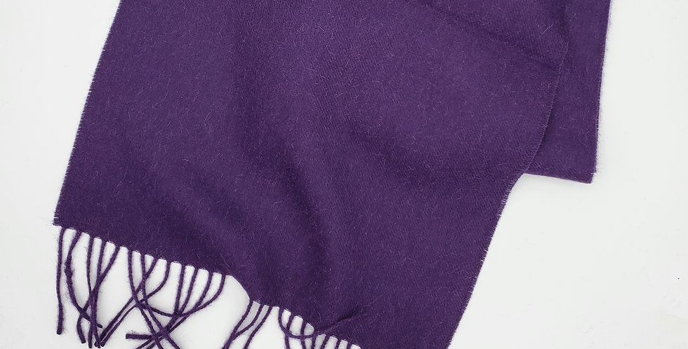 Brushed Solid Scarf - Dark Plum