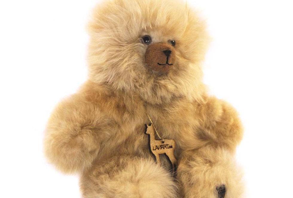 """Cuddly Alpaca Heirloom Teddy Bear 11"""" - Fawn"""