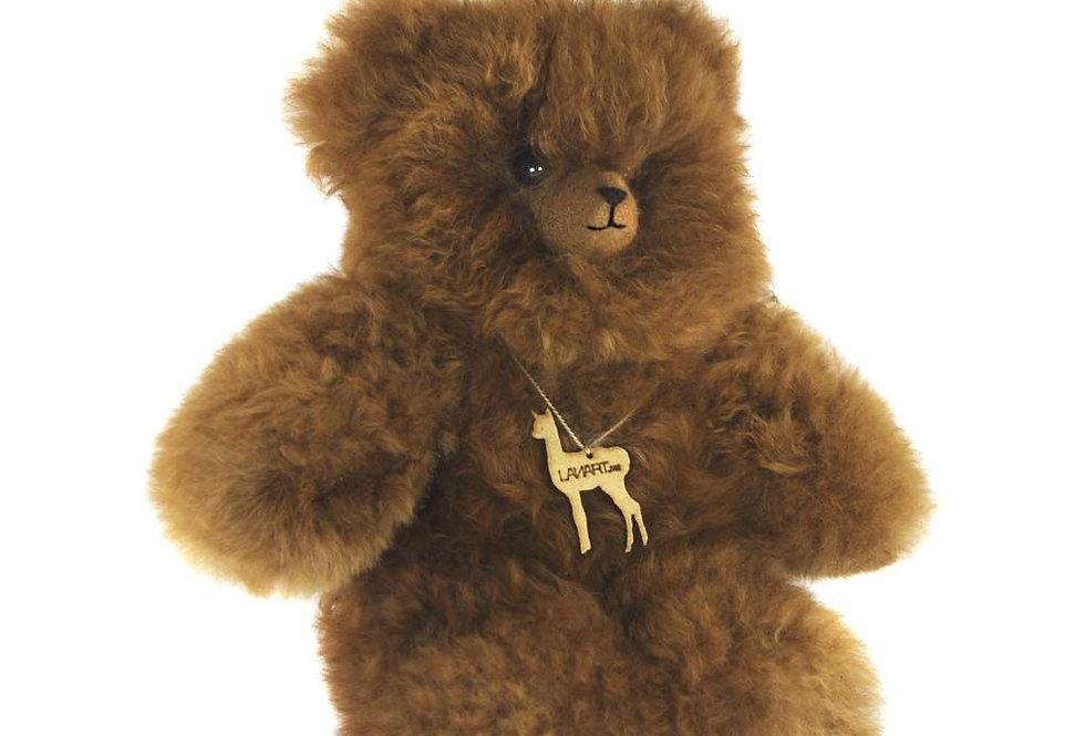 "Petite Alpaca Heirloom Teddy Bear 8"" - Carmel"