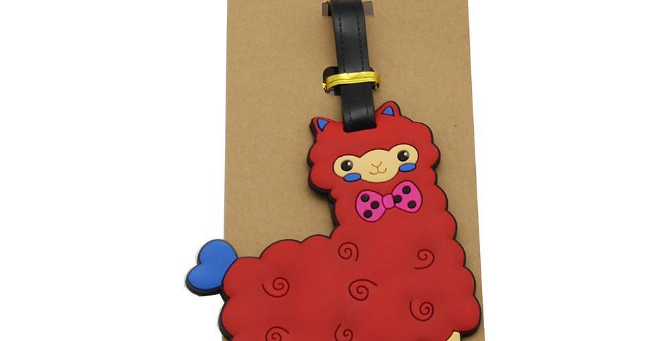 Alpaca My Bags Luggage Suitcase Tags - Red