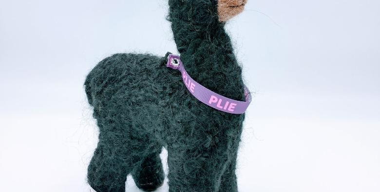 "8"" Felted Alpaca - black with Plie collar"