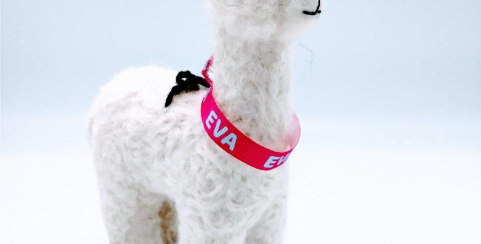6.5″ Alpaca Fiber Sculpture - with Eva collar