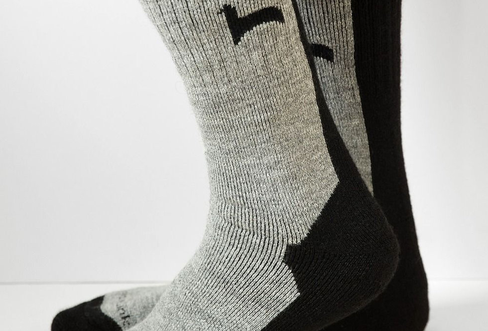 Hiker Alpaca Socks - Black