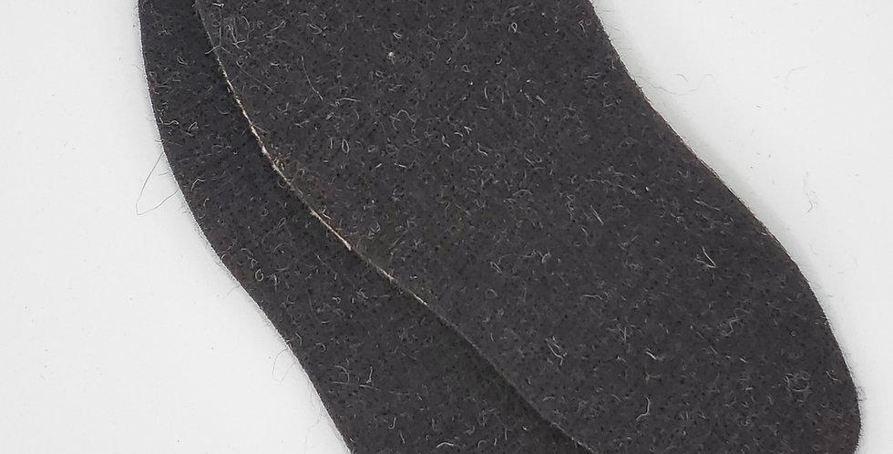 Alpaca Shoe/Boot Insoles - black