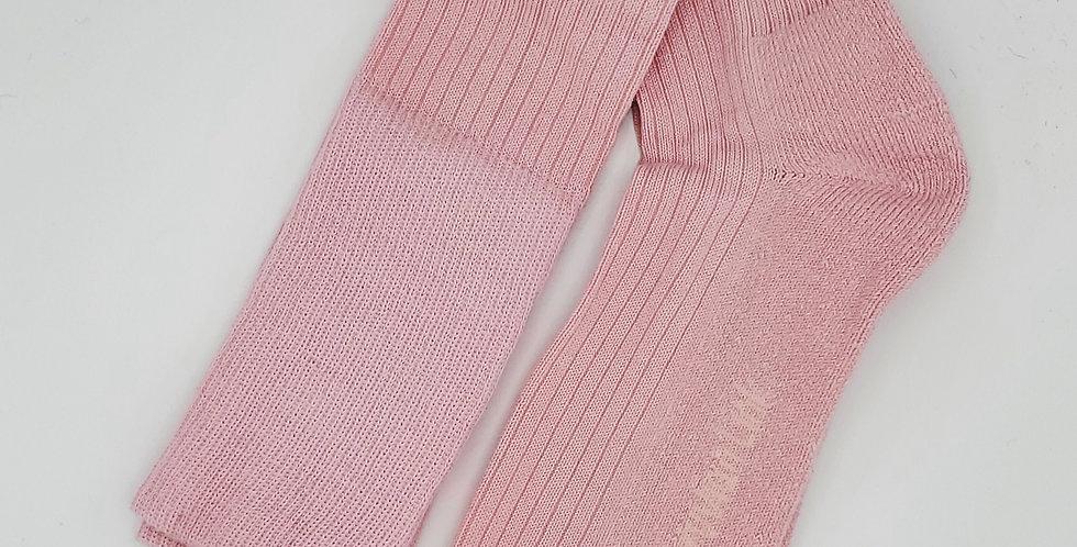 Knee High Alpaca Socks - Pink