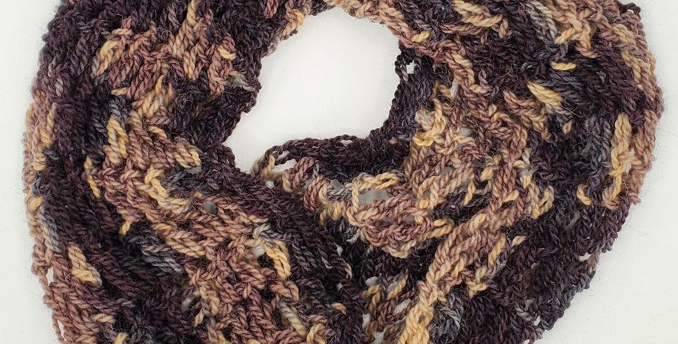 Handmade shawl - shades of autumn