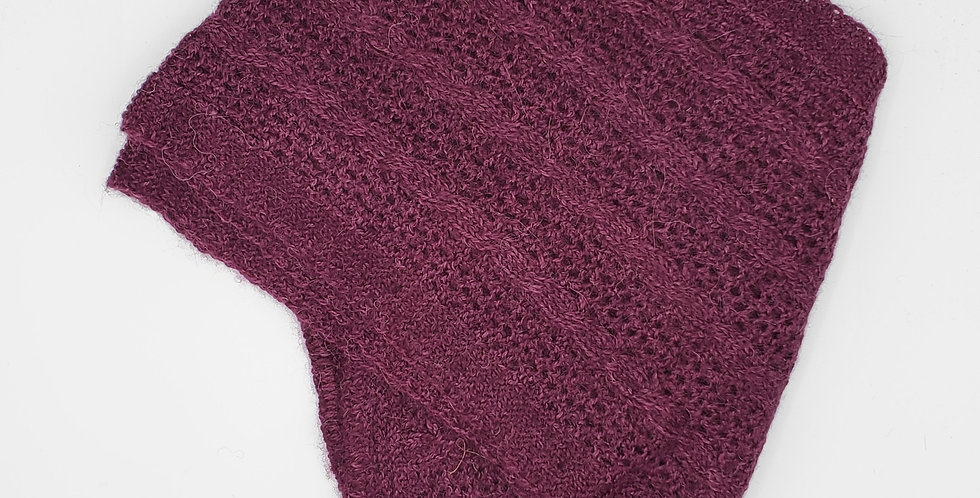 BOLD Cable & Lace Scarf - Mulberry