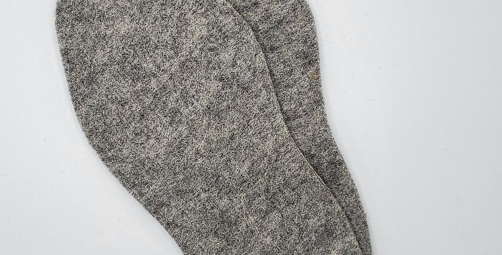 Alpaca Shoe/Boot Insoles - grey