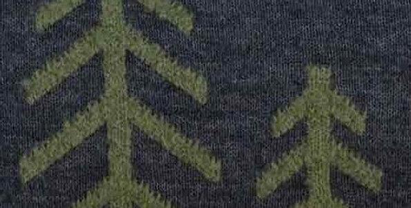 Tree Pillow - Green/Steel