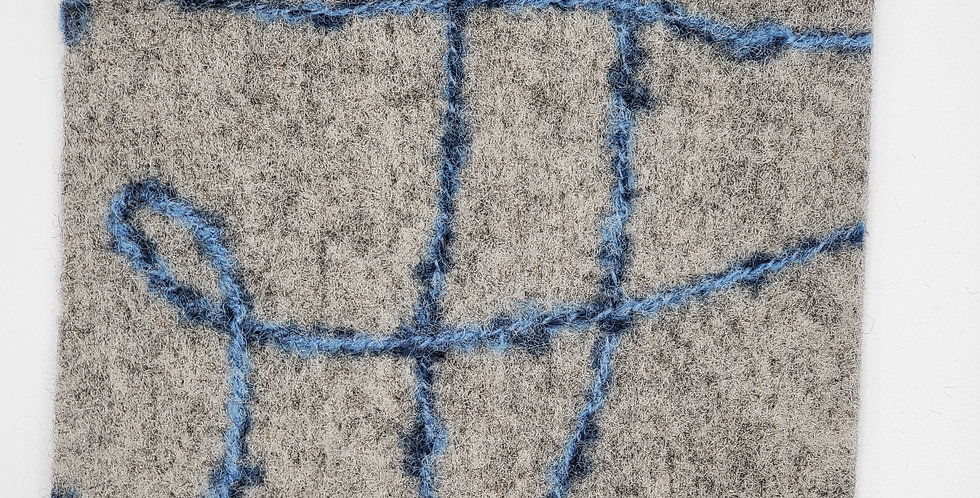 Gray felted hot pad