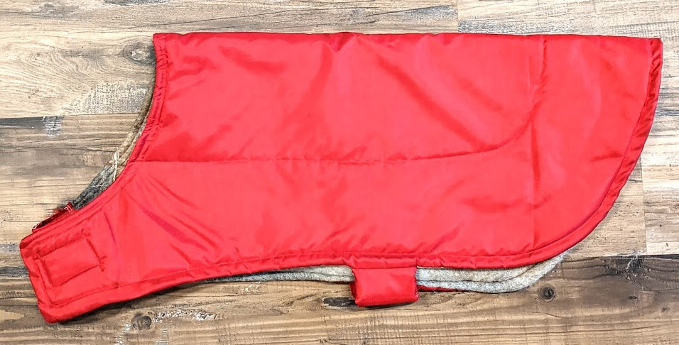 Dog coat -lined with alpaca - XL