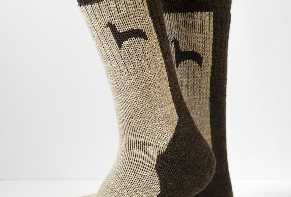 Hiker Alpaca Socks - Coffee