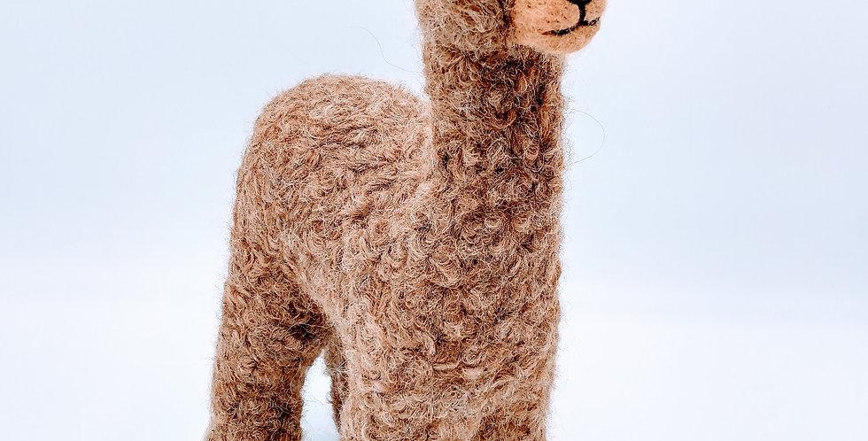 Herdsire 12″ Alpaca Fiber Sculpture - Caramel