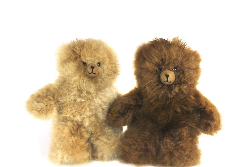 "Petite Alpaca Heirloom Teddy Bear 8"" - Fawn"